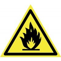Indicator incendiu / substante inflamabile Sun Prints, PVC, triunghiular, 15 x 15 x 15 cm