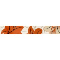 Brau faianta Iride floral 2504-0190 orange lucios 6 x 40.2 cm