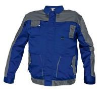 Jacheta de lucru Cerva Asimo, poliester si bumbac, albastra, cu buzunare, marimea 58