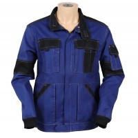 Jacheta de lucru Athos, bumbac, albastru + negru, cu fermoar, marimea 48
