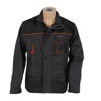 Jacheta Classic, poliester si bumbac, gri inchis + negru + portocaliu, marimea 52