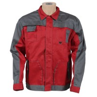 Jacheta de lucru Asimo, poliester + bumbac, rosu, cu buzunare, marimea 46