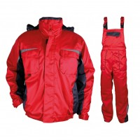 Costum de protectie Stenso Kastor, vatuit, rosu, XXL