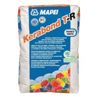 Adeziv gresie si faianta Mapei Kerabond T-R, alb, pentru interior / exterior, 25 kg