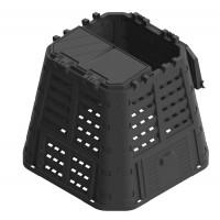 Lada compost pentru gradina, din PVC, neagra, 480 L