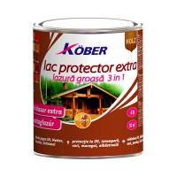 Lac / lazura extra 3 in 1 pentru lemn, Kober Extra, mahon, interior / exterior, 0.75 L
