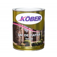 Lac pentru piatra Kober Ideal, interior / exterior, maro, 0.75 L