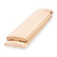 Lambriu lemn rasinoase, semirotund, interior, 3000 x 96 x 18 mm