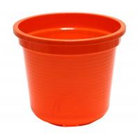 Ghiveci din plastic Laura, portocaliu D 20.4 cm