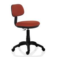 Scaun birou ergonomic pentru copii Lupo Kids, rotativ, textil E18, portocaliu