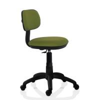 Scaun birou ergonomic pentru copii Lupo Kids, rotativ, textil E35, verde