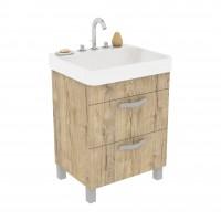 Masca baie pentru lavoar, Rus Savitar Active 9, sherwood, cu sertare, 56 x 43 x 76 cm