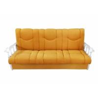 Canapea extensibila 3 locuri Laura, cu lada, galben + brate albe, 215 x 85 x 83 cm, 1C
