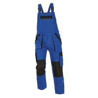 Pantalon salopeta pentru protectie Athos, bumbac, albastru-negru, marimea 50