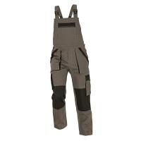 Pantalon salopeta pentru protectie Athos, bumbac, gri-negru, marimea 48