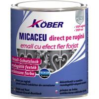Vopsea alchidica pentru metal Kober efect fier forjat, interior / exterior, graffit, 2.5 L