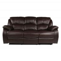 Canapea recliner 3 locuri Morrinsville maro, 97 x 195 x 101 cm, 1C