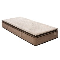 Saltea pat Ideal Sleep Naturpedic, 1 persoana, cu spuma memory + arcuri, 80 x 190 cm