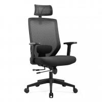 Scaun birou ergonomic Nice-H, rotativ, stofa + mesh, negru
