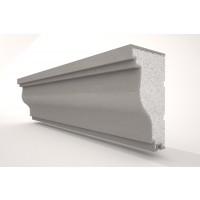 Solbanc / pervaz din polistiren expandat NS112, exterior, 2000 x 75 x 135 mm