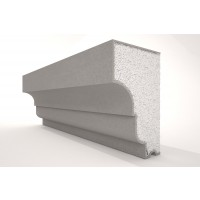 Solbanc / pervaz din polistiren expandat NS117, exterior, 2000 x 95 x 150 mm