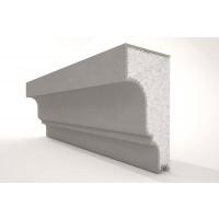 Solbanc / pervaz din polistiren expandat NS118, exterior, 2000 x 80 x 150 mm