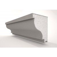 Solbanc / pervaz din polistiren expandat NS119, exterior, 2000 x 100 x 120 mm