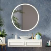 Oglinda baie Class Mirrors M8, cu iluminare RGB colorata, telecomanda, rotunda, D 100 cm