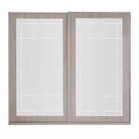 Dulap dormitor Opera L250/H230, ulm inchis, 2 usi glisante, cu oglinda, 250 x 65 x 230 cm, 10C