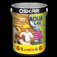 Lac pentru lemn Oskar Aqua Lac, incolor, pe baza de apa, interior / exterior, 5 L