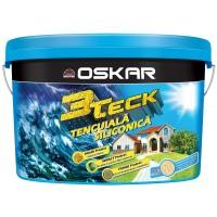Tencuiala decorativa siliconica Oskar 3Teck, structurata, aspect scoarta de copac, alb, interior / exterior, 25 kg