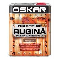 Vopsea alchidica Direct pe rugina Oskar, interior / exterior, maro ciocolatie - lovitura de ciocan, 2.5 L