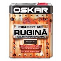 Vopsea alchidica Direct pe rugina Oskar, interior / exterior, maro ciocolatie - lucios, 2.5 L