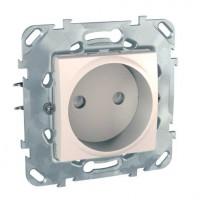 Priza simpla Schneider Electric Unica MGU50.033.25Z, incastrata, fildes
