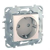 Priza simpla Schneider Electric Unica MGU50.037.25Z, incastrata, contact de protectie, fildes