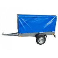 Set prelata + schelet prelata, pentru remorca auto 750 kg, 205.5 x 110 x 107 cm