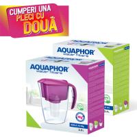 Cana filtrare apa potabila Aquaphor Smile, 2.9 L, pachet 2 bucati