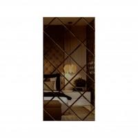 Oglinda decorativa, tip panou, bronz, 75 x 150 cm