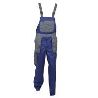 Pantaloni salopeta pentru protectie Asimo, bumbac + poliester, albastru, marimea 56