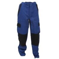 Pantaloni pentru protectie Athos, bumbac, albastru-negru, marimea 48
