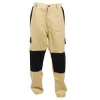 Pantalon Athos, bumbac, bej + negru, marimea 50