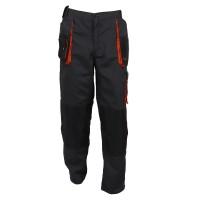 Pantaloni pentru protectie Classic Simplu, tercot, poliester + bumbac, gri inchis, negru, portocaliu, marimea 48