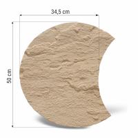 Pas japonez semiluna smoke diametru 50 cm