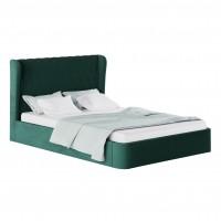 Pat dormitor Calabria, matrimonial, tapitat, verde, 160 x 200 cm, 2C