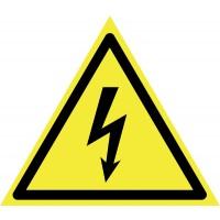 Indicator pericol electrocutare Sun Prints, PVC, triunghiular, 15 x 15 x 15 cm