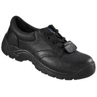 Pantofi de protectie Proman 102 cu bombeu metalic, piele, negru, S3, marimea 45