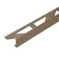 Profil aluminiu terminatie gresie si faianta, drept, olive, 10 x 2500 mm