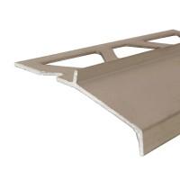 Profil aluminiu picurator pentru gresie, Olive, 2500 mm