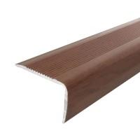 Profil aluminiu pentru treapta, Profiline stejar inchis, 40 x 25 mm, 1.2 m