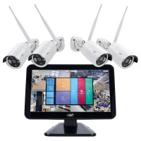 Kit supraveghere PNI House WIFI650, 4 camere 1080P Full HD interior / exterior